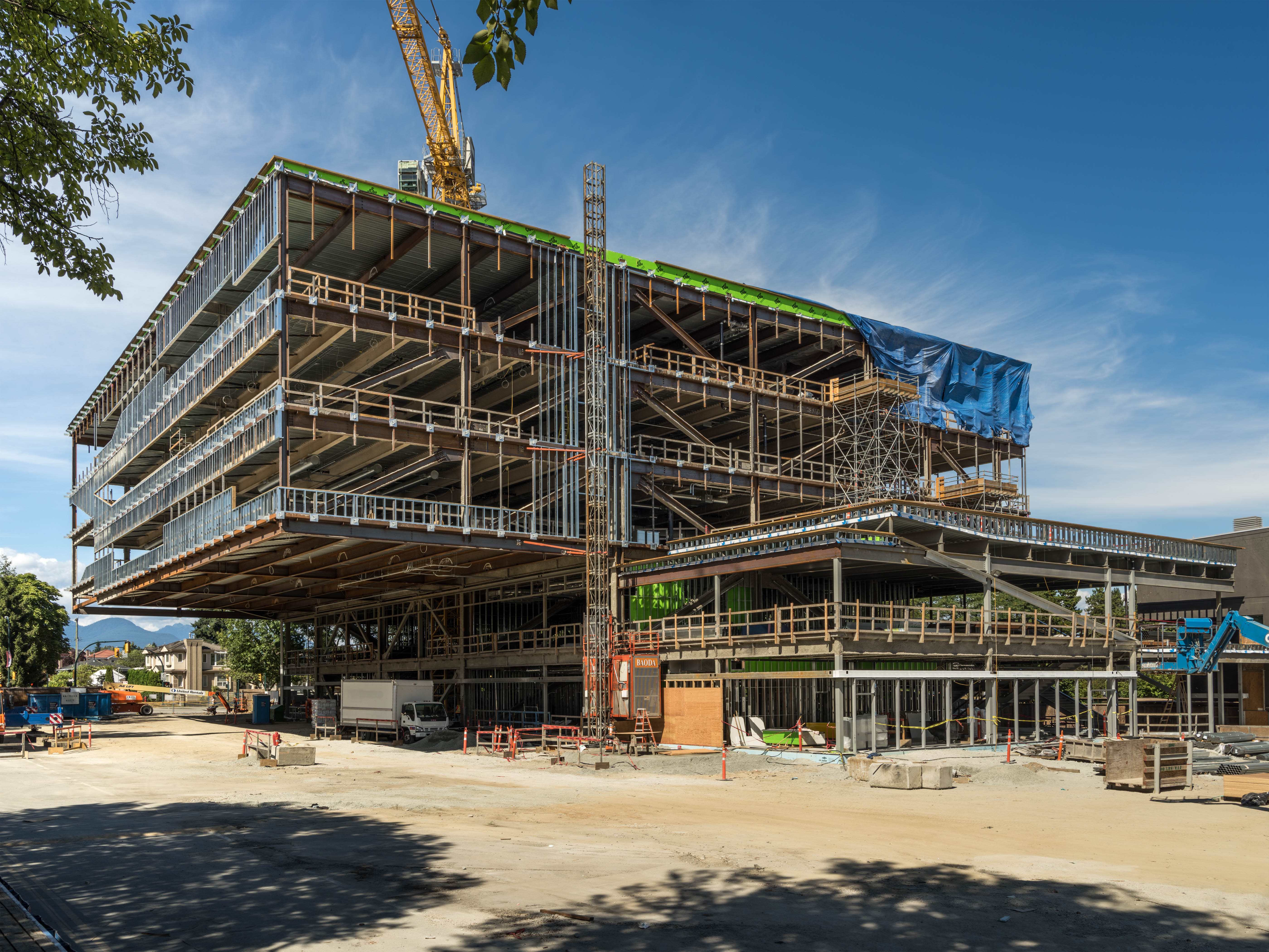 Langara Science and Student Services Steel - Teeple Architects