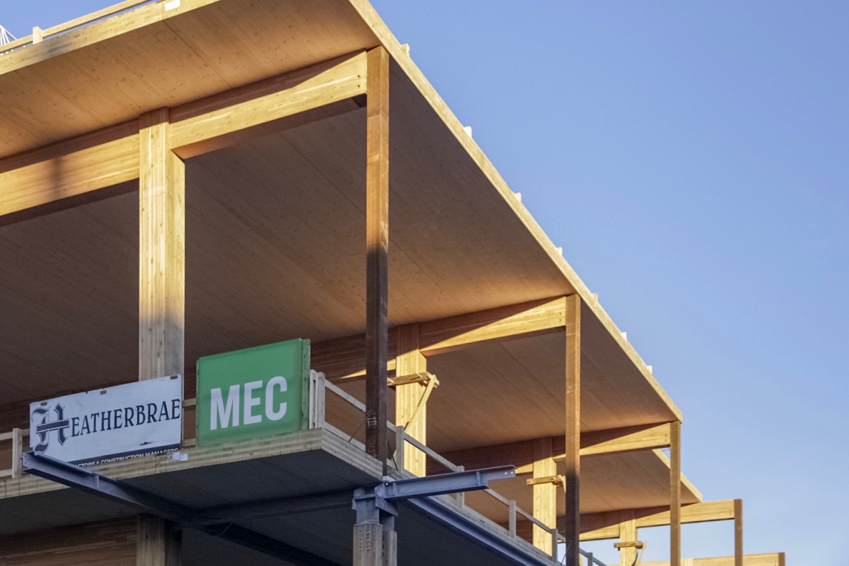 The new Vancouver MEC Store in progress